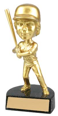 Resin Girl's Bobble Head Softball Trophy