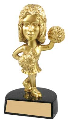 Bobble Head Cheerleader Trophy