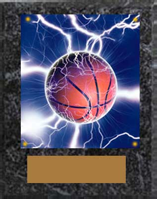 Image Basketball Plaques the N Series in black marble finish