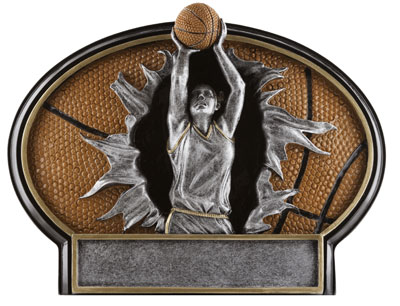 Female Resin Basketball Plaque Award