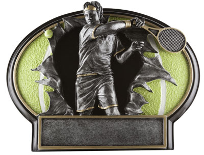 Resin Men Tennis Plaque Award