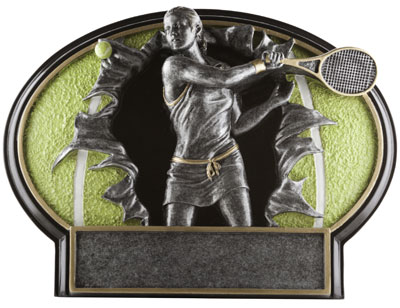 Resin Women Tennis Plaque Award