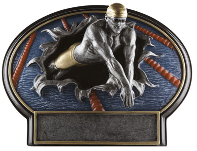 Male Swimming Plaque Award