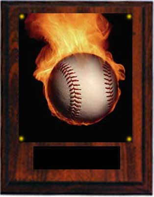 Image Baseball Plaque N Style cherry finish.