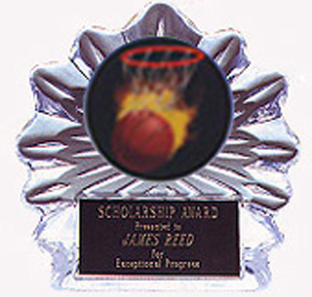 Acrylic Flame Ice Basketball Trophy
