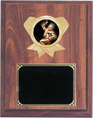 Cherry Finish Deluxe Women's Bodybuilder Plaque