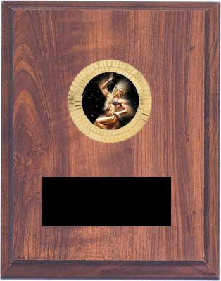 Cherry Finish Bodybuilding Plaque Award