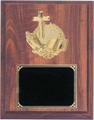 Deluxe Church & Sunday School Plaques in Cherry Finish