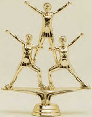 Triple Cheerleader Trophy Figure 1478