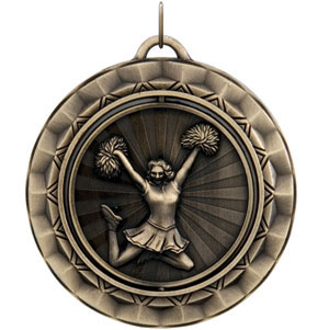 SP327 Spinning Cheerleader Medal with Six Pricing Options