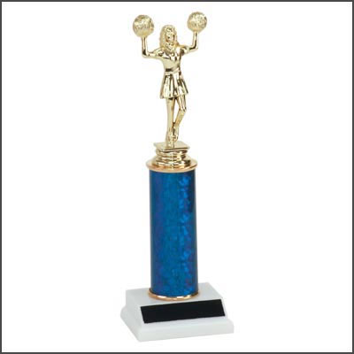 Cheerleading Trophies with Single Column