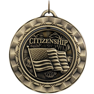 SP394 Spinning Citizenship Medal with Six Pricing Option