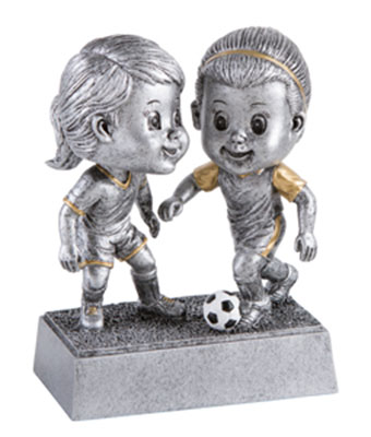 Girls Bobble Head Soccer Trophies
