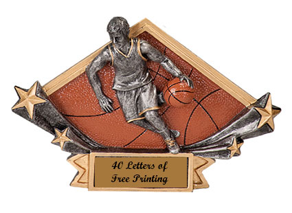 DSR 12-52 Resin Boys Basketball Plaques as Low as $6.99
