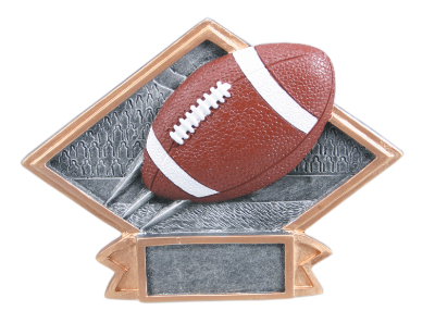 Diamond Plate Football Plaques with two size options.