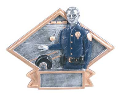 Resin Police Plaque Award