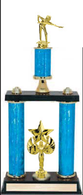 Billiard Double Post Trophy, 2PDS