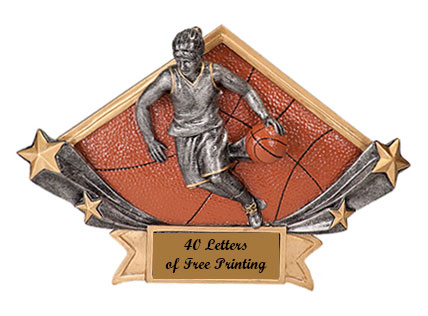 DSR 13-53 Resin Girls Basketball Plaques as Low as $6.99