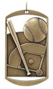 Awesome Dog Tag Softball Medals