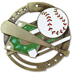 Large Enamel Baseball Medal with Six Pricing Options