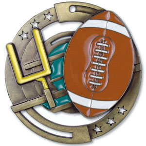 Large Enamel Football Medal with Six Pricing Options