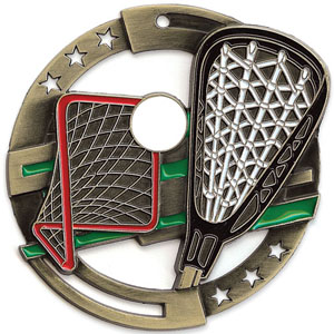 Large Enamel Lacrosse Medal with Six Pricing Options