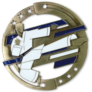 Large Enamel Martial Arts Medal with Six Pricing Options