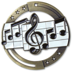 Large Enamel Music Medal with Six Pricing Options