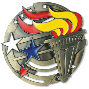 Large Enamel Torch Medal with Six Pricing Options