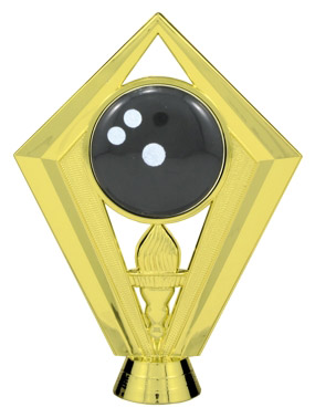 Color Bowling Ball Trophy Figure FIG7434
