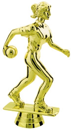 Female Bowling Trophy Figure 7506