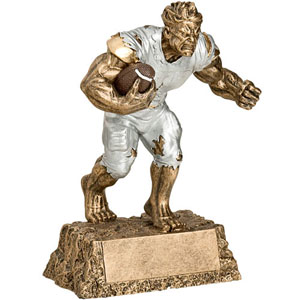 Resin Monster Football Trophies, 6 levels of pricing, scroll down for more information.