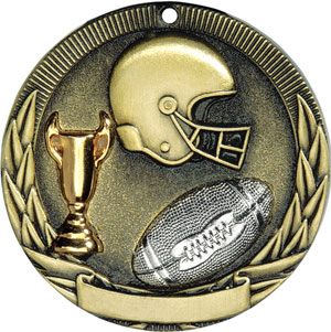 TR212 Tri-Colored Football Medals with Six Pricing Options