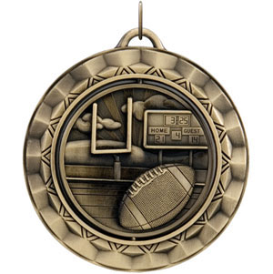 SP312 Spinning Football Medal with Six Pricing Options