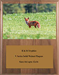 V Series Solid Walnut Fox & Coyote Plaques