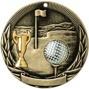 TR228 Tri-Colored Golf Country Medals with Six Pricing Options