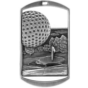 DT228 Dog Tag Golf Medal with Six Pricing Options