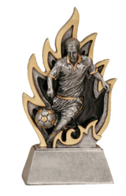 Resin Soccer Trophies in Two Sizes