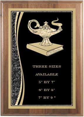 Lamp of Knowledge Scholastic Plaque