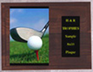 H Style Solid Walnut Golf Plaque