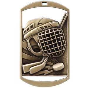 DT270 Dog Tag Hockey Medal with Six Pricing Options