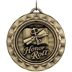 SP354 Spinning Honor Roll Medal with Six Pricing Options