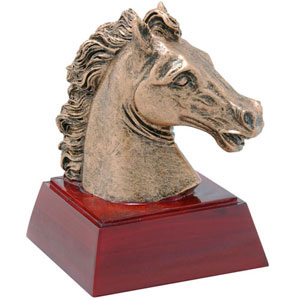 Promote School Spirit with a Mustang Mascot Trophy