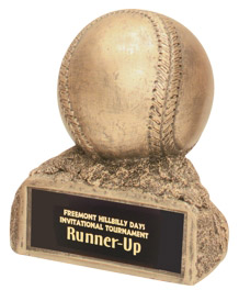 Resin Gold Baseball Trophy Statue HR25