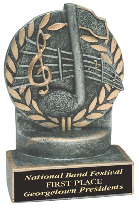 Resin Music Trophy Statue JD60