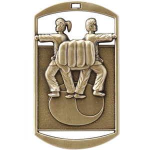 DT269 Dog Tag Martial Arts Medal with Six Pricing Options