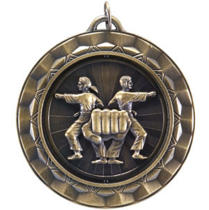 SP369 Spinning Martial Arts Medal with Six Pricing Options