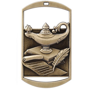 DT250 Dog Tag Lamp of Knowledge Medal with Six Pricing Options