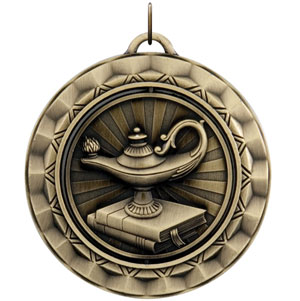 SP350 Spinning Lamp of Knowledge Medal with Six Pricing Options