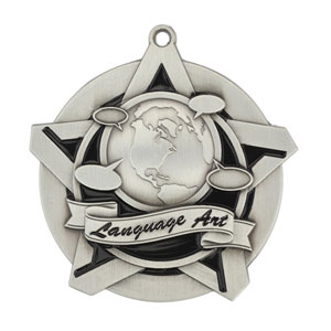 43022 Language Arts Medal with Six Pricing Options